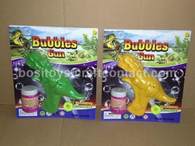 仿真恐龙惯性泡泡枪澄海塑料内销边贸玩具