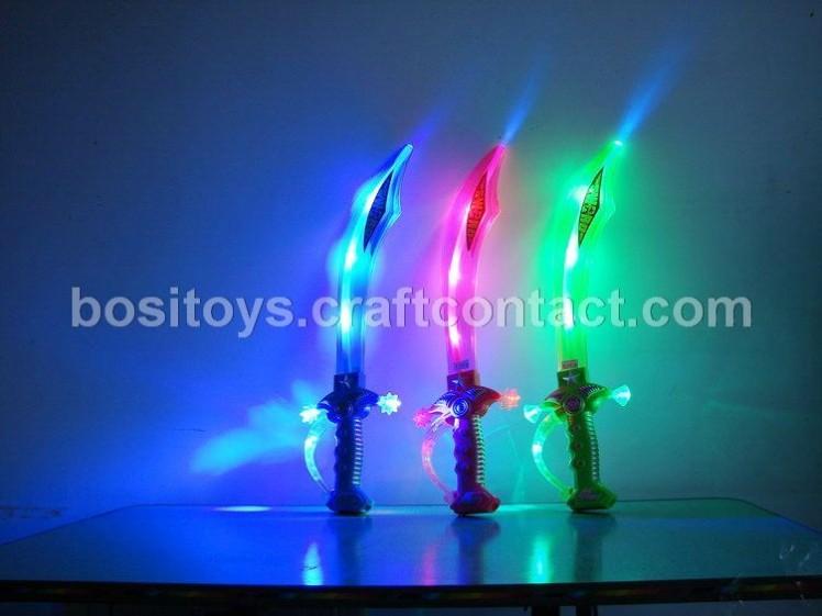 闪光刀剑澄海塑料兵器武器夜市地摊义乌广场公园学校周边玩具