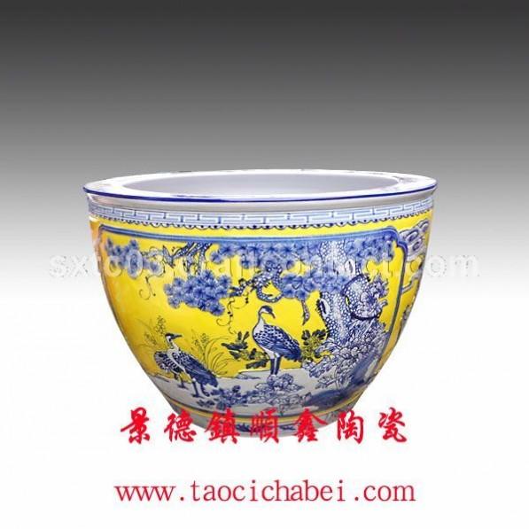 景德镇陶瓷鱼缸批发 景德镇陶瓷厂