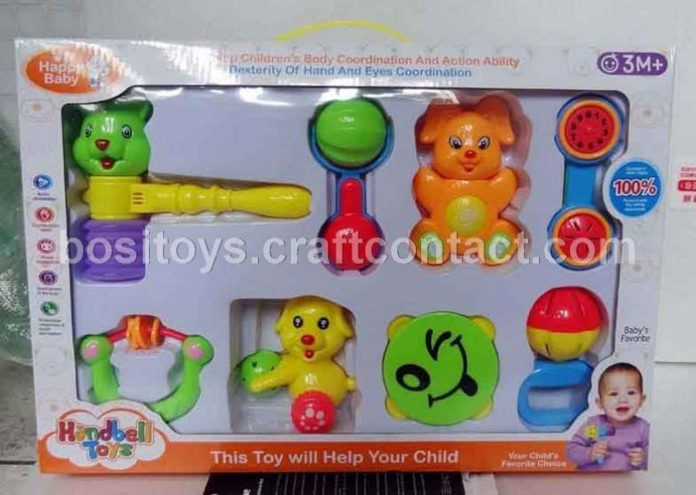 婴儿床铃摇铃铃鼓响锤套装组合音乐玩具可作尿片等儿童用品广告促销礼品赠品批发